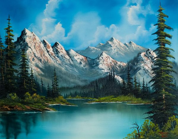 Canvas Prints Bob Ross Natures Grandeur