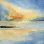 Cape Cod Sunset Seascape Painting Beverly Brown