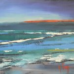 Carol Schiff Daily Painting Studio Abstract Layers Seascape