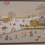 Carson Canvas Oil Serigraph Painting Snow Winter Scene Art