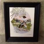 Carson Oil Painting Serigraph Mint