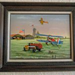Carson Painting Serigraph Standard Oil Airport