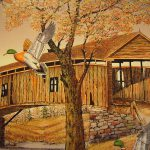 Carson Serigraph Painting Canvas Ducks Flying Coa Sale Antiques