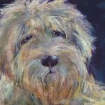 Cassidy Dog Oil Painting