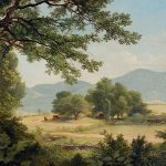 Catskill Meadows Summer Painting Asher Brown