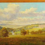 Century English Landscape Cliveden House Oil Painting Alfred Elsworth Sale