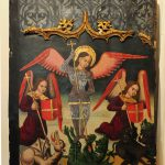 Century Spanish Panel Painting George Dragons Sale