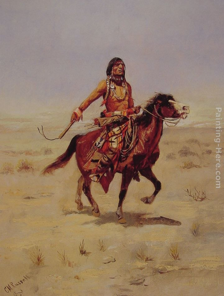 Charles Marion Russell Indian Rider Painting Best Paintings