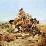 Charles Russell Riding Line Art Print