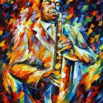 Charlie Parker Palette Knife Oil Painting Canvas Leonid