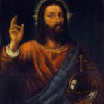 Christ Blessing Painting Titian Jaro