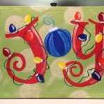 Christmas Paintings Canvas Easy Ideas Home