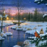 Christmas Paintings Canvas Inspirational Artificial