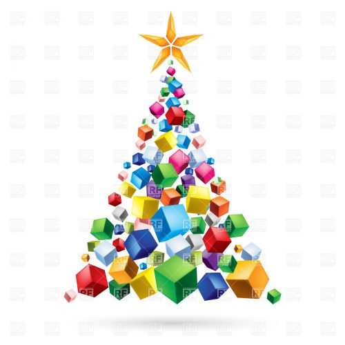 Christmas Tree Clipart Abstract Pencil