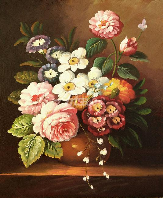 Classic Potted Flower Oil Painting Paintings Sale Cheap