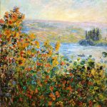 Claude Monet Flower Beds Vetheuil Painting Best Paintings