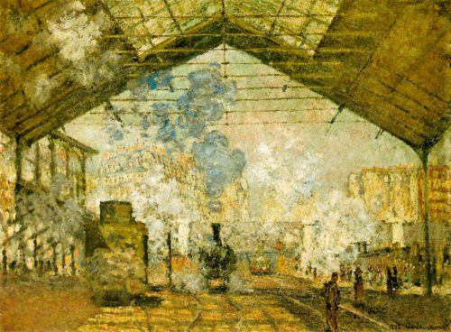 Claude Monet Interior Saint Lazare