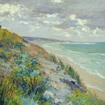 Cliffs Sea Trouville Painting Gustave