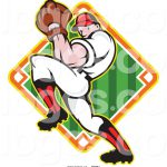 Clip Art Baseball Pitcher Outline