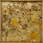Collection Robert Rauschenberg Untitled Gold Painting Guggenheim