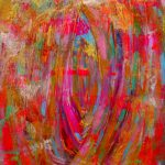 Colorful Abstract Painting Original Acrylic