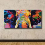 Colorful Elephant Painting Cmh