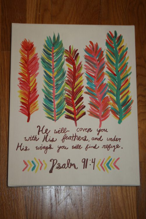 Colorful Feather Bible Verse