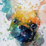 Colorful Splashed Watercolor Animals Paintings Fubiz