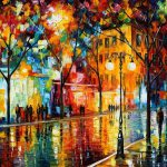 Colorful Tears Fall Palette Knife Oil Painting Canvas Leonid