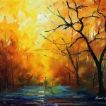 Colors Morning Palette Knife Oil Painting Canvas Leonid