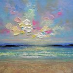 Colourful Contemporary Art Ocean Beach Abstract Landscape Painting Canadian Artist