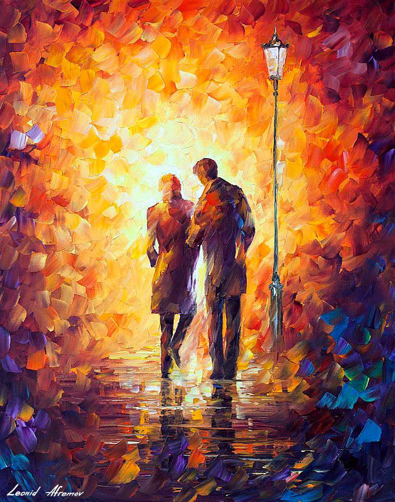 Come Together Over Palette Knife Oil Painting Canvas Leonid