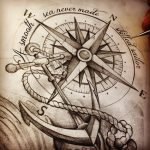 Compass Anchor Sketch Cool Tatts Pinterest S