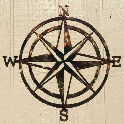 Compass Rose Indoor Outdoor Nautical Wall Art