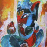 Cool Graphical Lord Ganesha Painting Chintaman