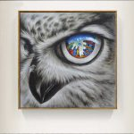 Cool Owl Canvas Painting Wall Art Abstract Modern Bird Printing Home
