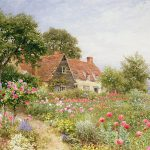 Cottage Garden Painting Henry Sutton