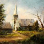 Country Church Painting Sally