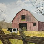 Cow Barn Painting Norm