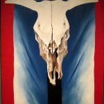 Cow Skull Red White Blue Georgia Keeffe