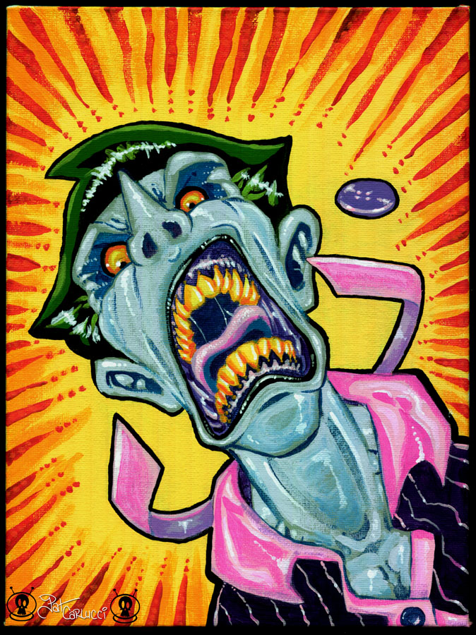 Crazy Joker Acrylic Painting Patcarlucci