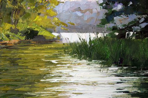 Creating Landscape Palette Knife Demonstration Artists
