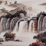 Creek Mountain Waterfall Asian Art Landscape Painting Landscapes Asia Paintings