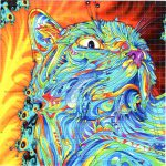 Crystal Cat Blotter Art Perforated Psychedelic