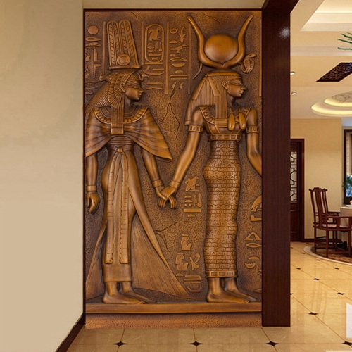 Custom Modern Art Wall Painting Living Room Ancient Egyptian Pharaoh Entrance