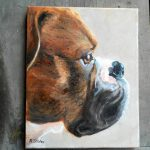 Custom Pet Portrait Painting Boxer Art Your