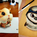 Cute Funny Drawing Artworks Chinese Artist Oliudio