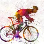 Cyclist Road Bicycle Painting Pablo