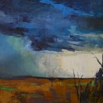 Daily Painters Abstract Large Landscape Painting Storm Stormfront