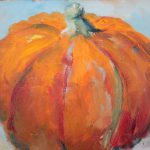 Daily Painters Abstract Pumpkin Contemporary Still Life Paintings Amy
